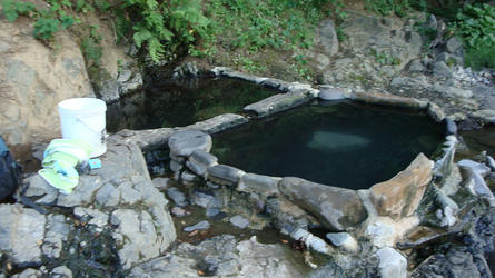 the soaking pools in summer 2009 (Hunts)